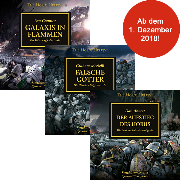 The Horus Heresy 1 - 3  (Hörbuch-Download-Abo)