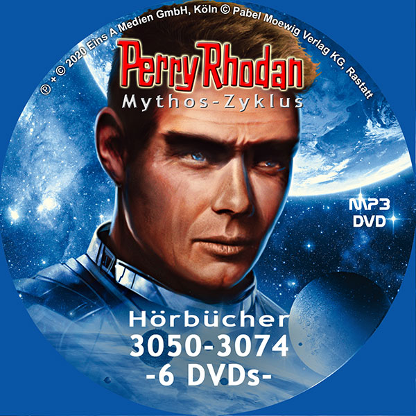 Perry Rhodan MYTHOS MP3 DVD-Paket Folgen 3050-3074