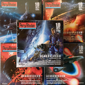 Perry Rhodan 2600-2699: Der komplette Neuroversum-Zyklus in 5 Sammelboxen (50 MP3-CDs)